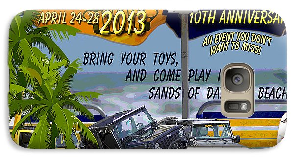 Galaxy Case featuring the photograph Jeep Beach 2013 Welcomes All Jeepers by DigiArt Diaries by Vicky B Fuller
