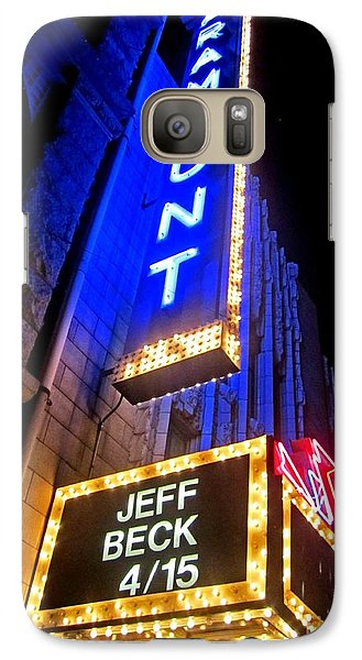 Galaxy Case featuring the photograph Jeff Beck At The Paramount by Fiona Kennard