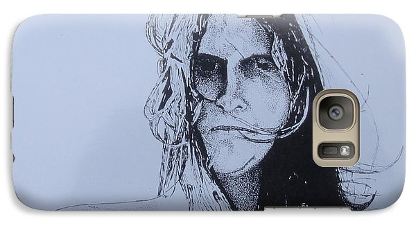 Galaxy Case featuring the drawing Jeff by Stuart Engel