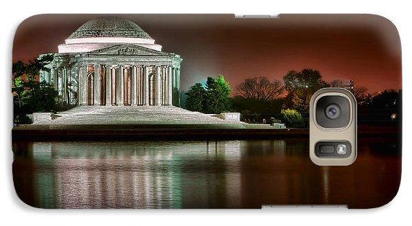 Jefferson Memorial At Night Galaxy Case by Olivier Le Queinec