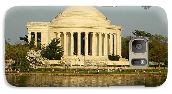 Galaxy Case featuring the photograph Jefferson Memorial At Sunset by Emmy Marie Vickers