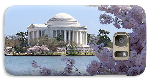 Jefferson Memorial - Cherry Blossoms Galaxy Case by Mike McGlothlen