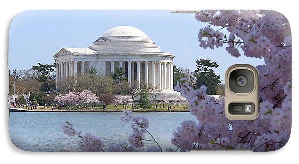 Jefferson Memorial - Cherry Blossoms Galaxy S7 Case