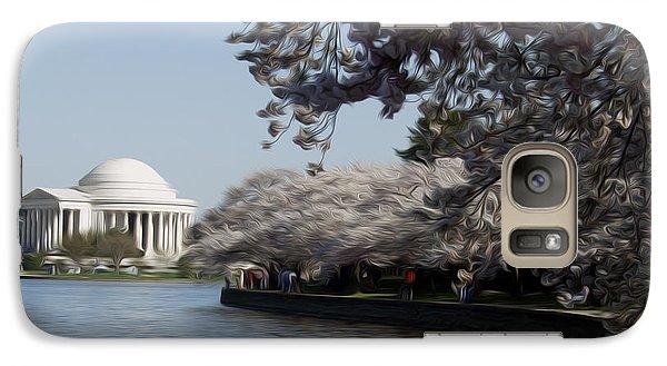 Galaxy Case featuring the digital art Jeffersonian Blossoms by Kelvin Booker
