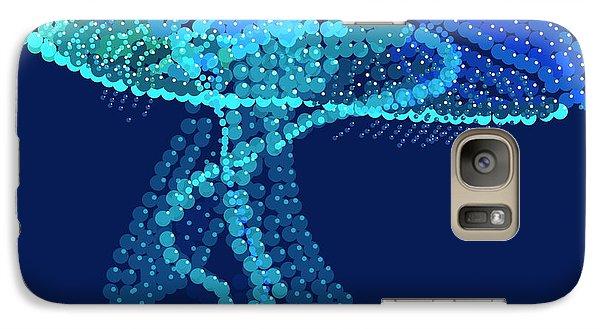 Galaxy Case featuring the digital art Jellyfish Bedazzled by R  Allen Swezey