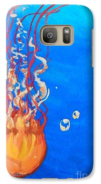 Galaxy Case featuring the painting Jellyfish by Marisela Mungia