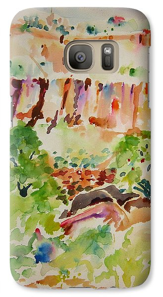 Galaxy Case featuring the painting Jemez Cliff Study by Jeffrey S Perrine