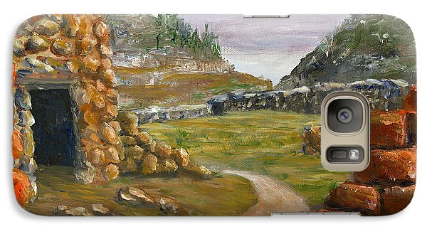 Galaxy Case featuring the painting Jemez Inspired Pathway Landscape by Lenora  De Lude