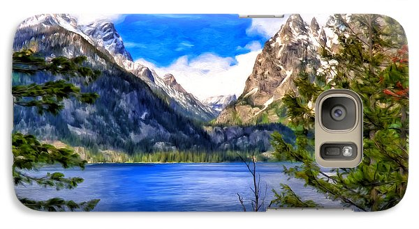 Galaxy Case featuring the painting Jenny Lake by Michael Pickett