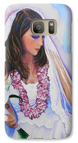 Galaxy Case featuring the painting Jenny by Margaret Bobb