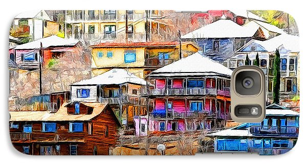 Galaxy Case featuring the photograph Jerome Arizona Hillside Houses by Clare VanderVeen