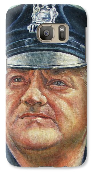 Galaxy Case featuring the painting Jersey City Policeman by Melinda Saminski