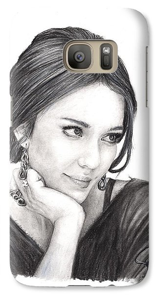 Jessica Alba Galaxy S7 Case by Rosalinda Markle