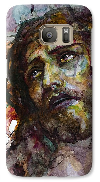 Galaxy Case featuring the painting Jesus Christ by Laur Iduc