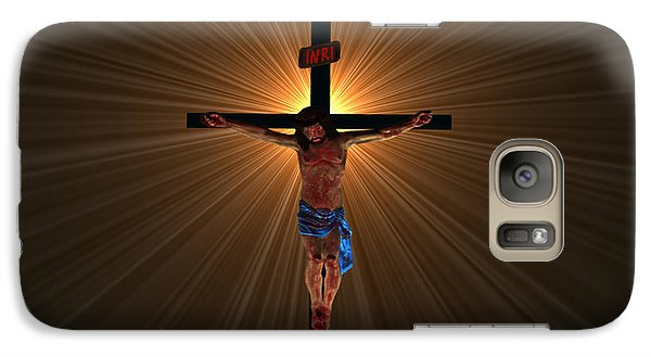 Galaxy Case featuring the digital art Jesus Christ by Michael Rucker