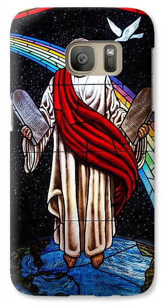Galaxy Case featuring the photograph Jesus In Stain Glass by Randy Sylvia