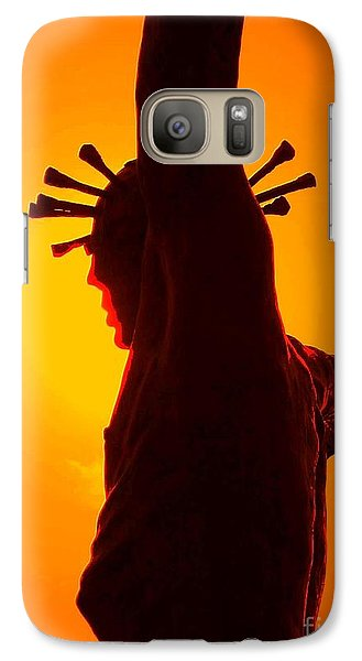 Galaxy Case featuring the photograph Jesus In Sunset 2 Faith by Becky Lupe