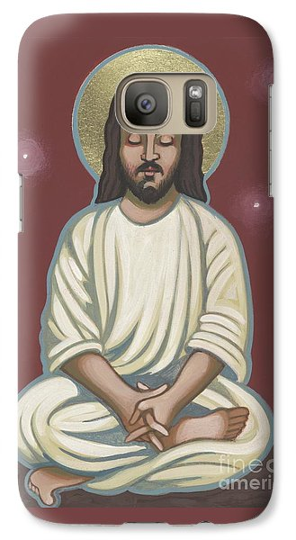 Galaxy Case featuring the painting Jesus Listen And Pray 251 by William Hart McNichols