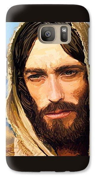 Galaxy Case featuring the digital art Jesus Of Nazareth Portrait by Dave Luebbert