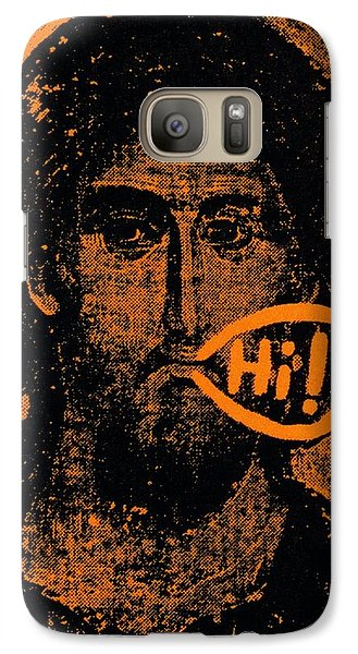 Galaxy Case featuring the painting Jesus Says Hi by Patrick Morgan