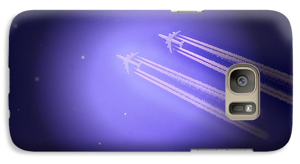 Galaxy Case featuring the photograph Jet Race by Kelly Reber