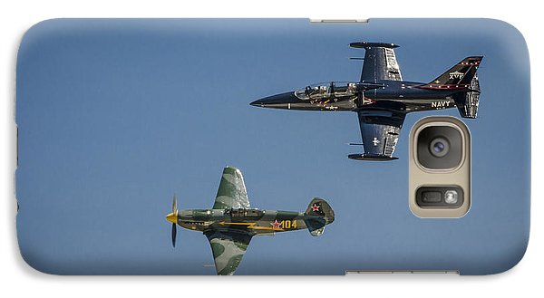 Galaxy Case featuring the photograph Jet Vs Plane by Bradley Clay