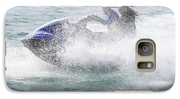 Galaxy Case featuring the photograph Jetboat Fun by Phoenix De Vries