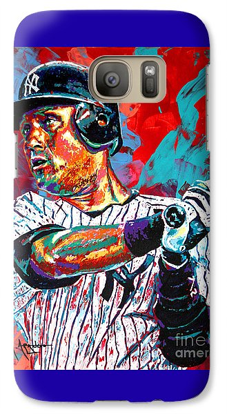 Jeter At Bat Galaxy Case by Maria Arango