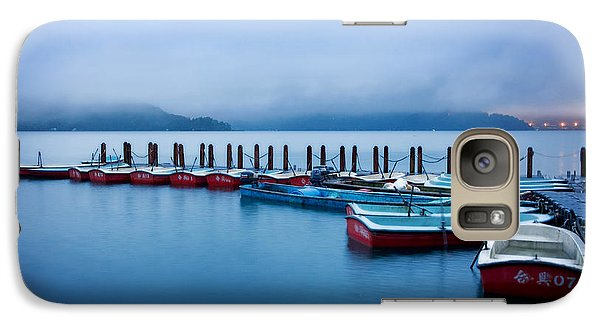 Galaxy Case featuring the photograph Jetty At Sun Moon Lake by Yew Kwang