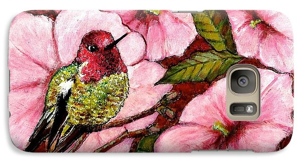 Galaxy Case featuring the painting Jewel Among Blooms by VLee Watson