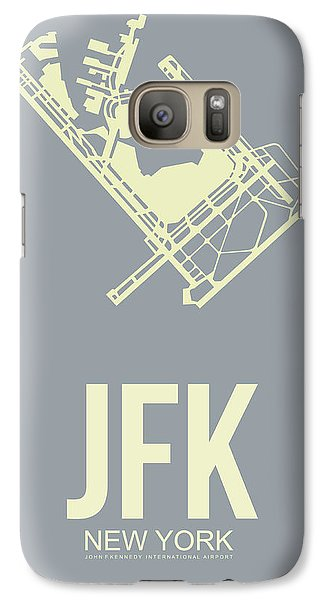 Transportation Galaxy S7 Case - Jfk Airport Poster 1 by Naxart Studio