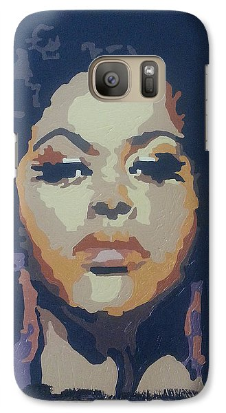 Galaxy Case featuring the painting Jill Scott by Rachel Natalie Rawlins