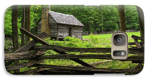 Galaxy Case featuring the photograph Jim Bales Cabin by Doug McPherson