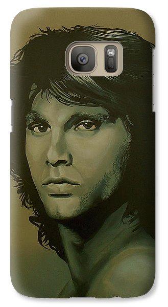 Raven Galaxy S7 Case - Jim Morrison Painting by Paul Meijering