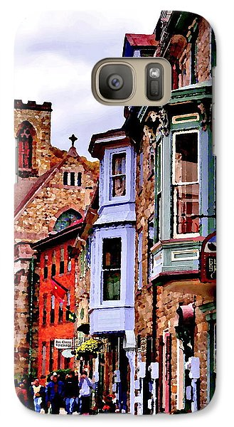 Galaxy Case featuring the photograph Jim Thorpe Pa Stone Row by Jacqueline M Lewis