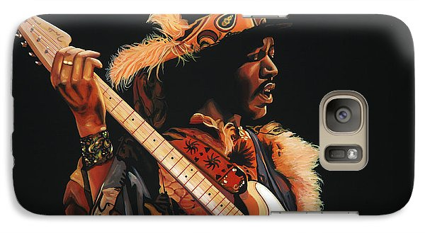 Knight Galaxy S7 Case - Jimi Hendrix 3 by Paul Meijering