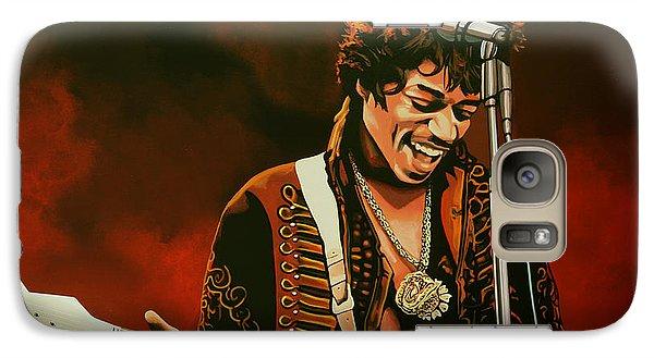 Realistic Galaxy S7 Case - Jimi Hendrix Painting by Paul Meijering