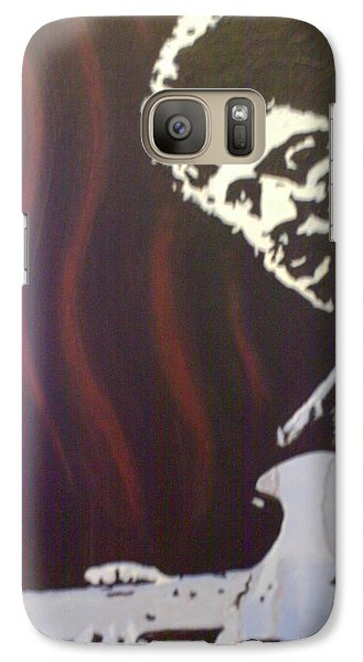 Galaxy Case featuring the painting Jimmy Has Soul by Dan Wagner