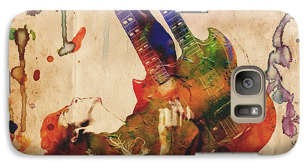 Jimmy Page - Led Zeppelin Galaxy S7 Case by Ryan Rock Artist