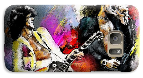 Jimmy Page And Robert Plant Led Zeppelin Galaxy Case by Miki De Goodaboom