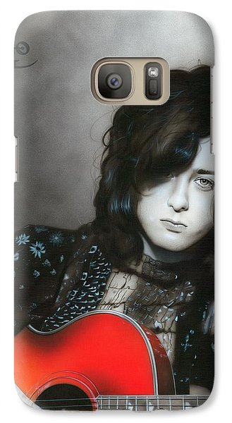 ' Jimmy Page ' Galaxy S7 Case by Christian Chapman Art
