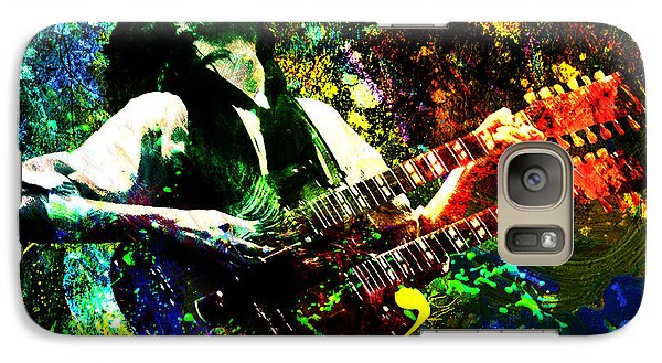 Jimmy Page - Led Zeppelin - Original Painting Print Galaxy S7 Case by Ryan Rock Artist