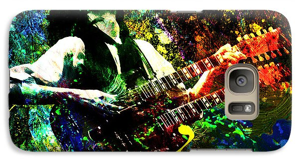 Jimmy Page - Led Zeppelin - Original Painting Print Galaxy Case by Ryan Rock Artist