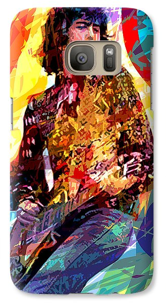 Jimmy Page Leds Lead Galaxy S7 Case by David Lloyd Glover