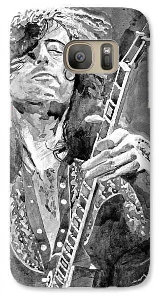 Jimmy Page Mono Galaxy S7 Case by David Lloyd Glover