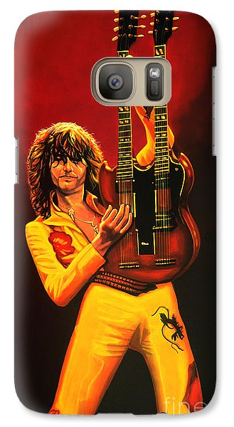 Jimmy Page Painting Galaxy Case by Paul Meijering