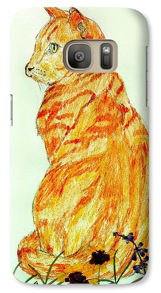 Galaxy Case featuring the drawing Jinj by Stephanie Grant