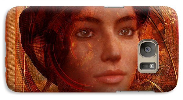 Galaxy Case featuring the painting Joan Of Arc Holy Fire by Suzanne Silvir
