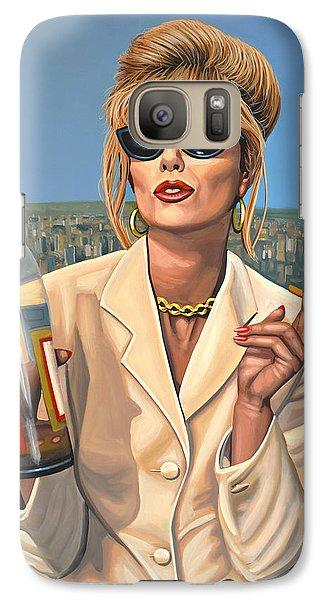 Joanna Lumley As Patsy Stone Galaxy S7 Case by Paul Meijering