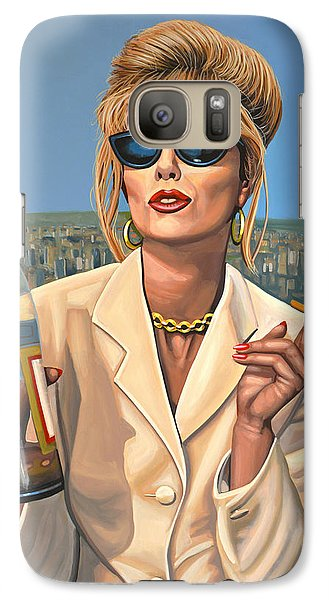 Realistic Galaxy S7 Case - Joanna Lumley As Patsy Stone by Paul Meijering